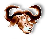 [colorful rounded image of the Head of a GNU]